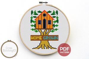 Home Grown Cross Stitch Design